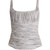 Tala ruched cotton and silk-blend tank top