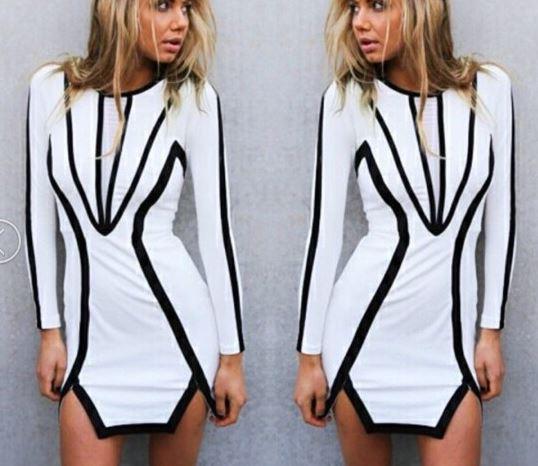 Geometric Clarity Dress