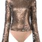 Alix 'madison' bodysuit, women's, size: xs, grey, nylon/polyester/spandex/elastane