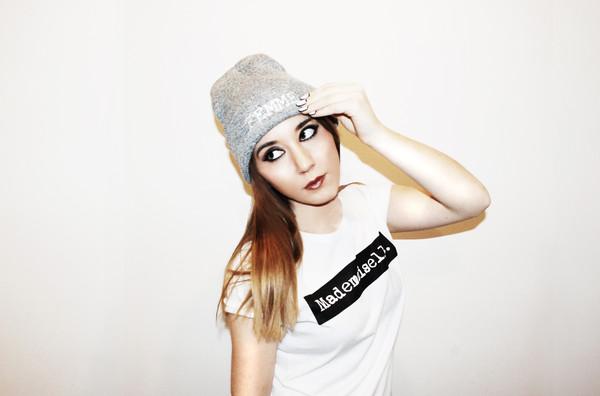 t-shirt celebrity style streetwear streetwear fashion beanie beanie streetwear urban band t-shirt boyfriend tshirt tomboy girly goth hipster grunge indie