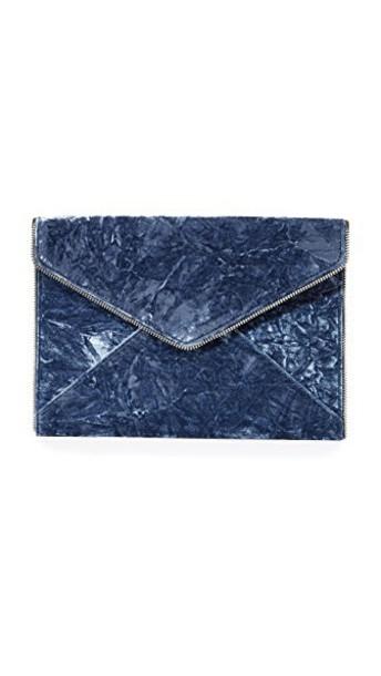 Rebecca Minkoff clutch velvet blue bag