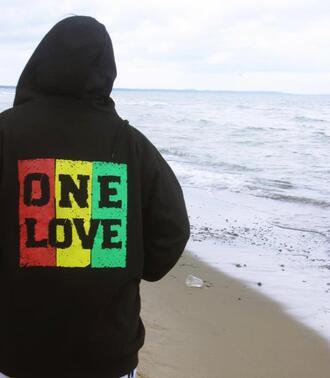 sweater reagge bob marley rasta one love hoodie