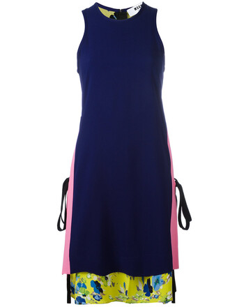dress women layered blue