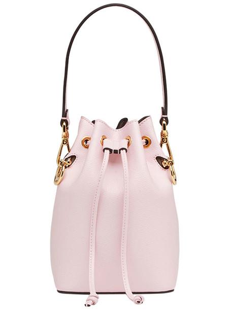 Fendi mini women bag mini bag leather purple pink