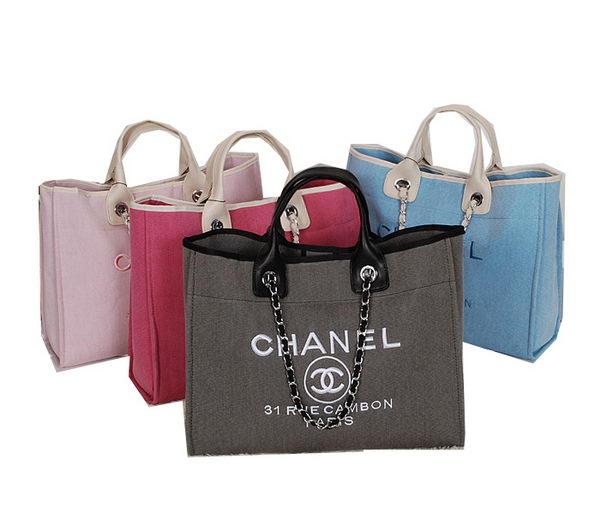 Chanel Large Canvas Tote Shopper Bag CHA67091 : Cheap Chanel Bags Online Sale | Mnphoto