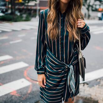 dress tumblr shirt dress blue dress long sleeves long sleeve dress mini dress stripes striped dress