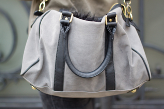 bag gray bag grey bag suede bag satchel black