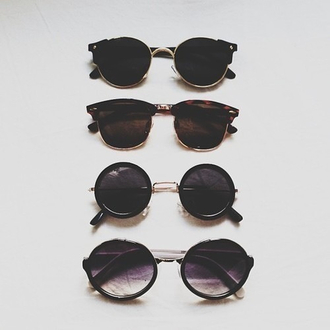 sunglasses round sunglasses round black black sunglasses glasses sun summer sunglass summer outfits cute pretty like vintage second to last pair circle jewels round frame glasses style girly hipster cool grunge hippie black gold round cateye