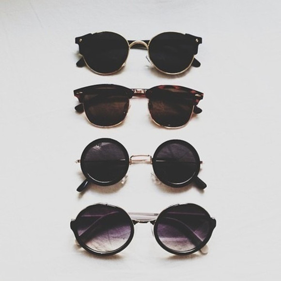 black summer sun sunglasses round black sunglasses glasses sunglass round sunglasses
