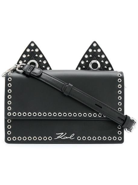 karl lagerfeld women bag shoulder bag leather black