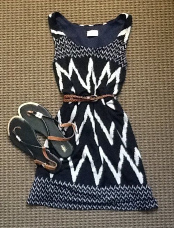 dress zigzag dress white dress black dress cheveron blouse cute dress patterned dress black and white dress summer dress blue dress chevron dresses boho chic boho dress hippie dress