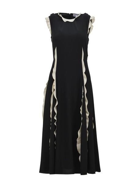 RED VALENTINO dress long dress long white black