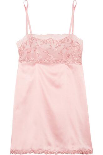 pastel lace silk pink satin pastel pink underwear