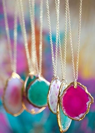 jewels necklace pretty crystal stone gold jewelry