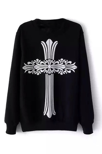 sweater pastel goth cross grunge goth