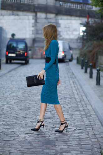 from brussels with love blogger blue dress