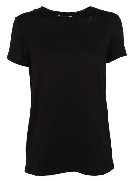 Helmut Lang t-shirt shirt t-shirt cut-out black top