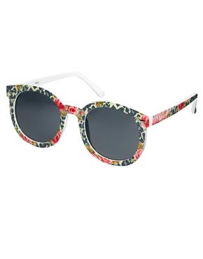 AJ Morgan | AJ Morgan Round Floral Print Sunglasses at ASOS
