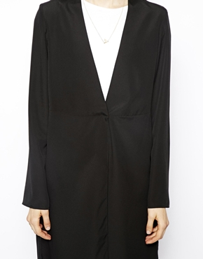 ASOS | ASOS Blazer In Longline With Gathered Waist at ASOS