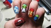 nail polish,toy story,buzz lightyear,woody,andy,alien