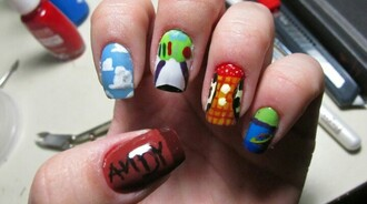 nail polish toy story buzz lightyear woody andy alien