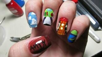 nail polish toy story buzz lightyear woody andy alien