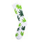 Huf - huf essentials plantlife socks // white / lime green