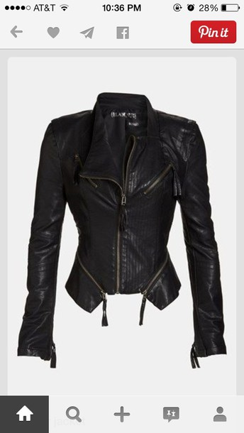 coat leather jacket