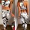 Women's new sport crop tank top leggings set