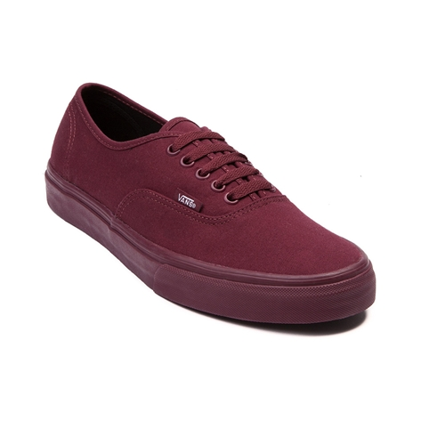 Vans Shoes Maroon And Black