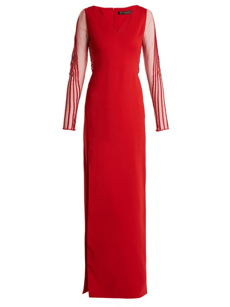 VERSACE gown red dress