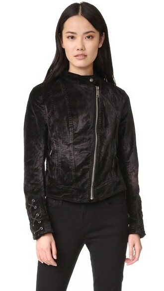 jacket black velvet