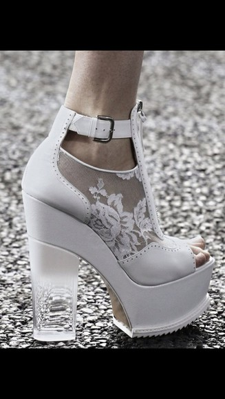 shoes buckles buckle boots high heels leather white white high heels mesh