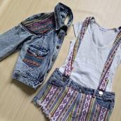 coat,romwe,shorts,denim,ethnic print,romwe coat,romwe shorts