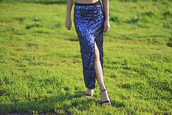 skirt,sequins,sequin skirt,maxi skirt,slit maxi skirt,slit skirt,blue skirt,sandals,sandal heels,high heel sandals,black sandals
