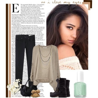 sweater shay mitchell pretty little liars necklace style