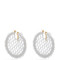 Bead-embellished lattice-disc earrings