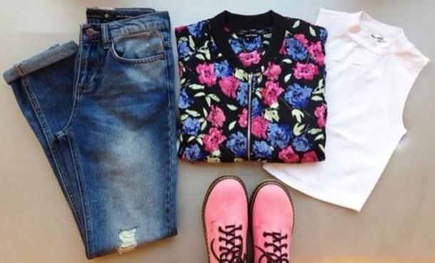 jacket flowers pink