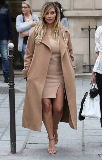 beige coat kim kardashian nude coat camel coat all nude everything