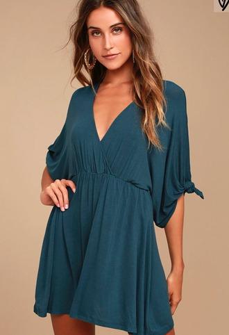 dress blue dress teal dress casual lulus drape