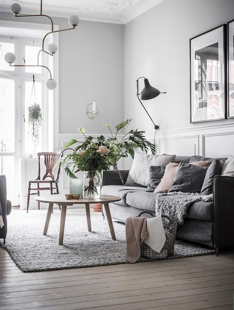 Home Accessory Furniture Lamp Table Sofa Tumblr Decor Living Room Grey Pillow