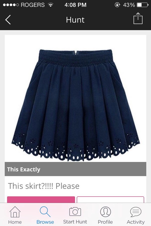 skirt dark blue skirt