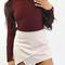 Sweet talk oatmeal suede skort