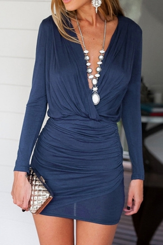 dress hot party summer blue navy party dress trendy short dress zaful