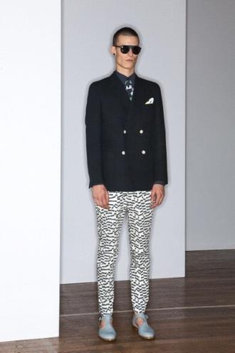 pale menswear printed pants mens shoes