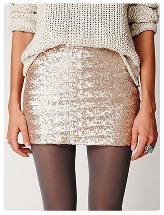 skirt gold sequins sweater