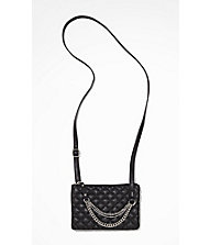 QUILTED CHAIN EMBELLISHED CROSS BODY BAG from EXPRESS