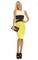 Fiora colour block midi dress in lime