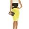 Fiora colour block midi dress in lime | ikrush