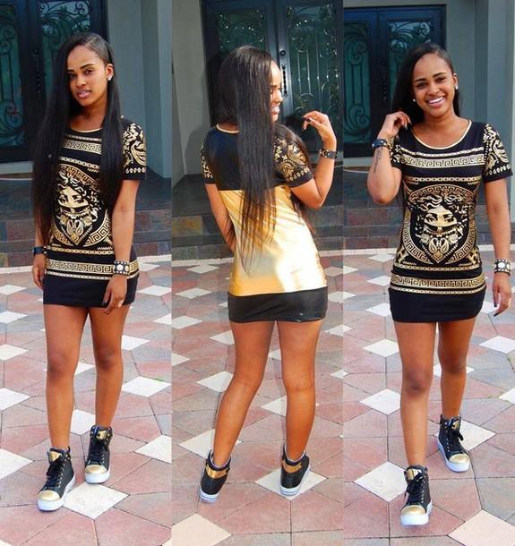dress versace blouse
